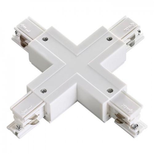 """Соединитель """"Х"""" с токопроводом для трёхфазного шинопровода NOVOTECH 135052"""