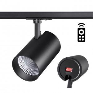 Однофазный трековый диммируемый светильник с пультом управления со сменой цветовой температуры NAIL 358359