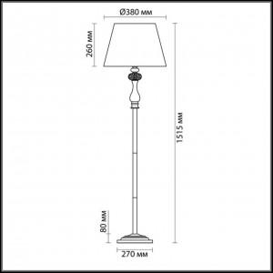 Торшер ODEON LIGHT AURELIA 3390/1F