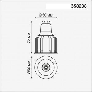 Светодиодная лампа декоративная NOVOTECH 358238