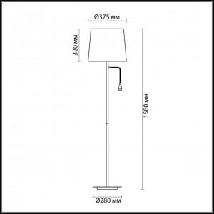 Торшер с подсветкой ODEON LIGHT EDIS 4114/1F