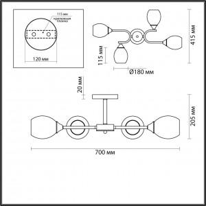 Люстра потолочная LUMION JOLENE 4546/4C